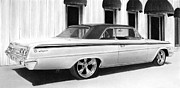 Chevrolet Drawings Metal Prints - Impala Metal Print by Lyle Brown