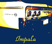 Street Rods Posters - Impala  SS Pop Art Poster by Cheryl Young