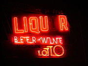 Photography Of Liquor Posters - Imperfection in Neon Poster by Guy Ricketts
