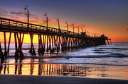 Eddie Yerkish Prints - Imperial Beach Pier Print by Eddie Yerkish