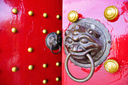 William Voon Metal Prints - Imperial Lion Door Knocker Metal Print by William Voon
