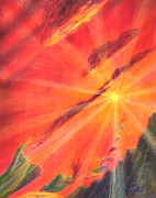 Sun Rays Pastels Originals - Impermanence by Jim Ditto