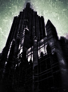 Noir Digital Art - Imposing Corporate Structures by Gary Cain
