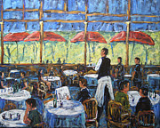 Montreal Paintings - Impresionnist Cafe by Prankearts by Richard T Pranke