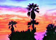 Blessings Digital Art - Impression Desert Sunset V2 by Nadine and Bob Johnston
