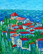 Villa Paintings - Impression From Mallorca by Ana Maria Edulescu