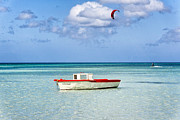 Kite Surfing Metal Prints - Impression of Aruba  Metal Print by George Oze