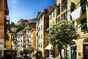 House On The Hill Prints - Impression of Riomaggiore Print by George Oze