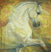 White Horse Paintings - Impression by Silvana Gabudean