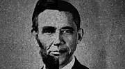 Barack Obama Prints - Impressionist Interpretation of Lincoln Becoming Obama Print by Michael Braham