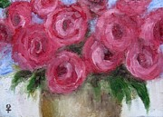 Decorating Mixed Media - Impressionist Roses by Venus