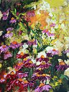 Ginette Fine Art LLC Ginette Callaway - Impressionist Wild Purple Coneflowers