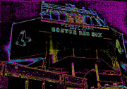 Red Sox Metal Prints - Impressionistic Fenway Park Metal Print by Gary Cain