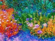 Impressionistic Garden Print by Annie Zeno