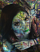 Scars Prints - Impressionistic Girl Print by Donna Blackhall