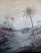 Rhonda Lee - Impressionistic Palms