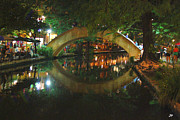 San Antonio River Walk Framed Prints - Impressions on the River Framed Print by Paul Anderson