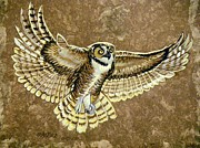 Amate Bark Paper Prints - Impressive Wings Print by Anne Shoemaker-Magdaleno