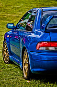 Blue Subaru Prints - Impreza 22B Print by Phil