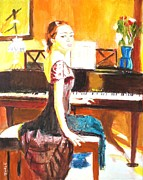 Classical Music Paintings - Impromptu by Judy Kay