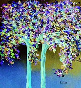 In A Blue And Purple World Print by Eloise Schneider