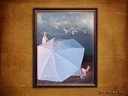 Reflection Of Sun In Clouds Prints - In a scene in a dream thats so far away Print by Gate Gustafson