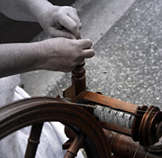 Spinning Wheel Prints - In a Spindle of Time Print by Steven  Digman