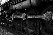 Railroads Photos - In A Time When Steam Was King 5D25491 v2 Black and White by Wingsdomain Art and Photography