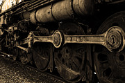 Railroads Framed Prints - In A Time When Steam Was King 5D25491 v2 Sepia 1 Framed Print by Wingsdomain Art and Photography