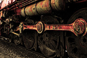 Railroads Photos - In A Time When Steam Was King 5D25491 v2 Sepia 2 by Wingsdomain Art and Photography