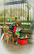 Street Photography Digital Art Acrylic Prints - In Another World pastel Acrylic Print by Steve Harrington