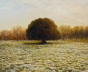 Snow Picture Paintings - In Anticipation of The Spring by Kiril Stanchev