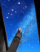 Constellation Digital Art - In Awe of Andromeda and the Milky Way by Kathleen Horner