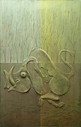 Hunt Reliefs Metal Prints - In-between four seasons Metal Print by Koicho Penchev