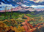 Storm Clouds Paintings - In By the Back Way by Darrell Sheppard