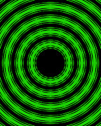 Roz Barron Abellera Posters - In Circles-Green Version Poster by Roz Barron Abellera