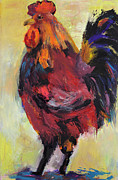Barnyard Animal Paintings - In Command by Pat Saunders-White