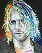 Kurt Cobain Metal Prints - In Debt for My Thirst Metal Print by Christian Chapman Art