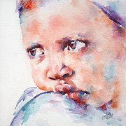 African Child Prints - In Despair Print by Stephie Butler