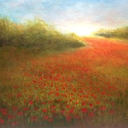 Poppies Field Paintings - In Flanders fields by Sonia Palik