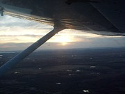 Passenger Plane Metal Prints - In Flight Sunset 01 Metal Print by Thomas Woolworth