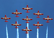 Planes Framed Prints - In Formation Framed Print by Randy Hall