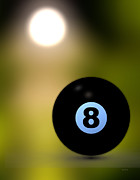 Round Prints - In Front of the eight ball Print by Bob Orsillo