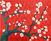 Sakura Paintings - In Love with the Blossom by Robert Tapia