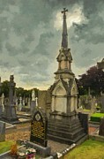 Cemetery Painting Posters - In Loving Memory Poster by Jeff Kolker