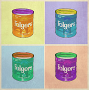 Folgers Prints - In Loving Memory of Donny Who Loved Bowling set of 4 variant 1 Print by Filippo B