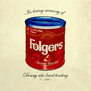 Folgers Prints - In Loving Memory of Donny Who Loved Bowling  variant 1 Print by Filippo B