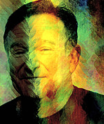 In Memory Of Robin Williams Print by Ally  White
