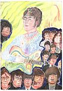 Beatles Pastels Metal Prints - In my life Metal Print by Moshe Liron