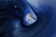 Spaceflight Art - In my safe dreambubble through space by Gun Legler